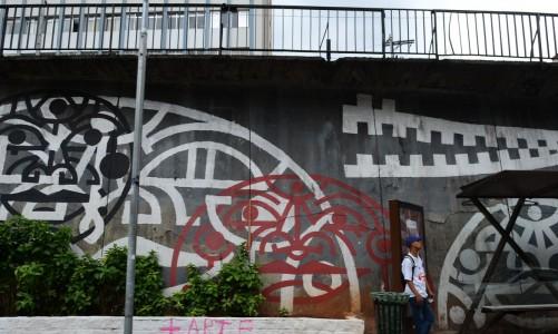 São Paulo - Grafites na Avenida 23 de Maio (Rovena Rosa/Agência Brasil)