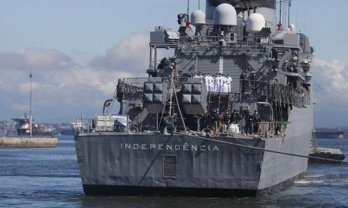 A fragata Independência(F44) retorna ao Brasil, na Base Naval do Rio de Janeiro, após concluir missão de paz na Força-Tarefa Marítima(FTM) da UNIFIL, no Líbano.