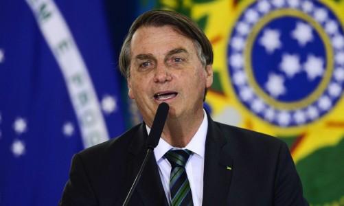 O presidente Jair Bolsonaro durante solenidade de Ação de Graças, no Palácio do Planalto.