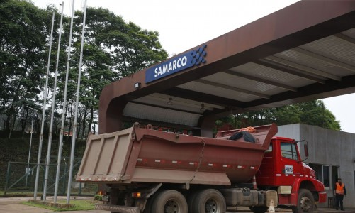 Entrada da mineradora Samarco.