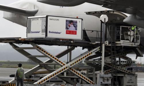 Carga com primeiras doses da CoronaVac chega ao Aeroporto Internacional de São Paulo 19/11/2020 REUTERS/Amanda Perobelli