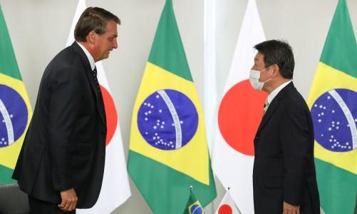 (Brasília - DF, 08/01/2021) Audiência com Motegi Toshimitsu, Ministro dos Negócios Estrangeiros do Japão. Foto: Marcos Corrêa/PR