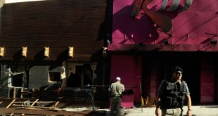 Santa Maria (RS) - Um ano do incêncio na Boate Kiss durante show na madrugada do dia 27 de janeiro de 2013. Entrada da boate (Wilson Dias/Agência Brasil/Arquivo)