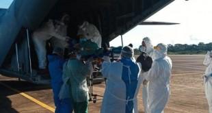 Nesta segunda-feira (25), uma aeronave C-105 da FAB decolou às 19h25 (Horário de Brasília) de Porto Velho (RO) transportando 15 pacientes para Curitiba (PR).