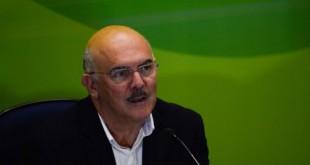 O ministro da Educação, Milton Ribeiro,participa da entrevista coletiva sobre o primeiro dia de provas do Enem