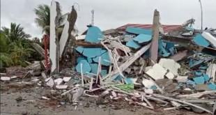 O terremoto, de magnitude 6,2, segundo o Instituto norte-americano de Geofísica, atingiu a Ilha de Celebes. Epicentro foi localizado 36 km ao sul de Mamuju, capital da província.