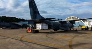 Hoje (18/01), um C-105 Amazonas da #FAB decolou às 10h de Guarulhos/SP com destino a Florianópolis/SC transportando carga das vacinas para combate à COVID-19. Avião