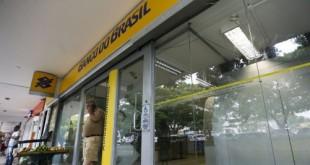 Fachada de Agência do Banco do Brasil.