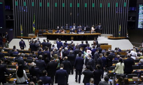 Sessão para a eleição da Mesa Diretora. Presidente da Câmara, dep. Arthur Lira (PP - AL)