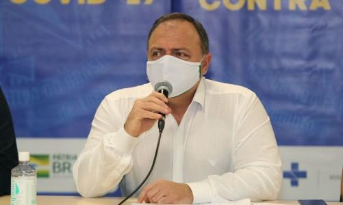 Ministro da saúde, Eduardo Pazuello, em coletiva sobre ações de enfrentamento ao coronavírus do Governo Federal no Amazonas