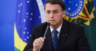 O presidente Jair Bolsonaro durante pronunciamento sobre preço dos combustíveis e a política de reajustes adotada pela Petrobras.