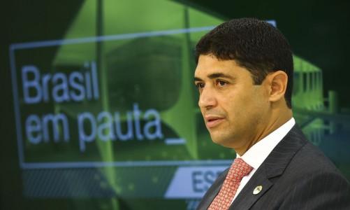 O ministro da Controladoria- Geral da União, Wagner Rosário, participa do programa Brasil em Pauta.