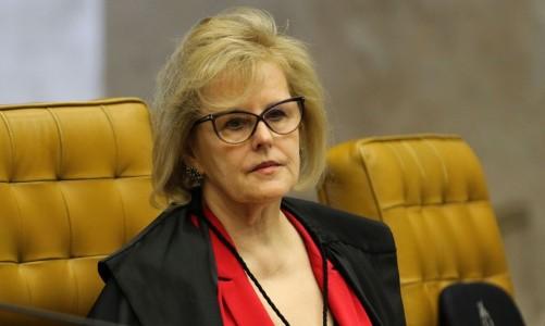 A ministra, Rosa Weber, durante sessão do STF que retoma julgamento sobre o compartilhamento de dados bancários e fiscais.