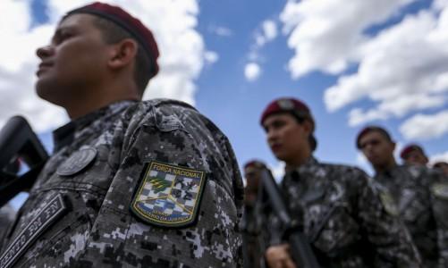 Cerimônia de inauguração da sede do Batalhão Escola de Pronto Emprego (BEPE) da Força Nacional, como parte das comemorações do XIV aniversário de criação da Força Nacional.