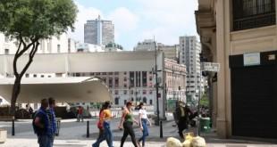 Comércio fechado na região central de São Paulo