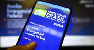 Aplicativo auxílio emergencial do Governo Federal.