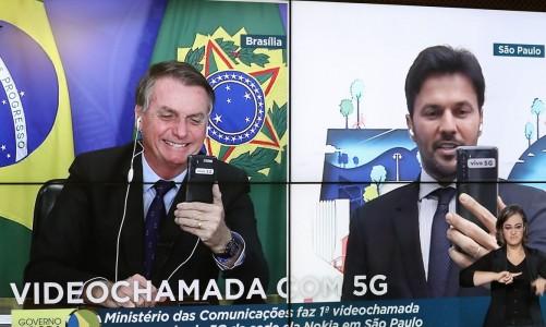 (Brasília - DF, 09/04/2021) Fábio Faria, Ministro de Estado das Comunicações (videochamada). Foto: Marcos Corrêa/PR