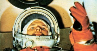 Yuri Gagarin in the Vostok 1