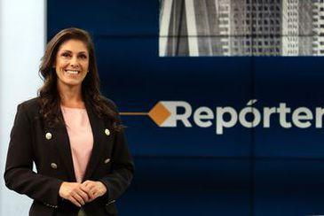 Nova apresentadora do jornal Repórter São Paulo, Vivian Costa.