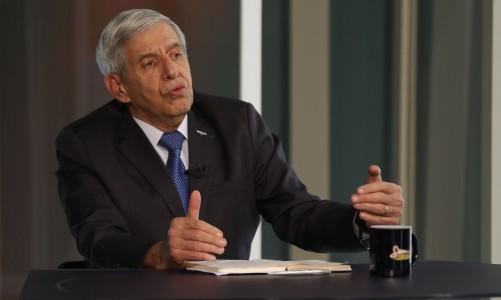 O ministro do Gabinete de Segurança Institucional, general Augusto Heleno, participa do programa Sem Censura, na TV Brasil