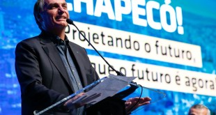 (Chapecó - SC, 25/06/2021) Palavras do  Presidente da República Jair Bolsonaro. Foto: Alan Santos/PR