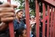 Venezuelanos aguardam vagas em abrigos para refugiados em Boa Vista.