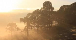 O amamancer de 28 de abril em Urupema foi com os campos coberto de geada e os termômetros regitrando -5,4º C