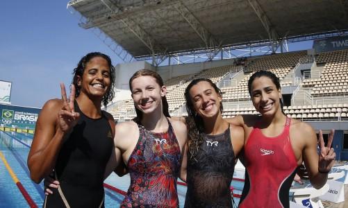 Seletiva Olimpica Brasileira de Natacao. Parque Aquatico Maria Lenk. 25 de abril de 2021, Rio de Janeiro, RJ, Brasil. Foto: Satiro Sodré/SSPress/CBDA