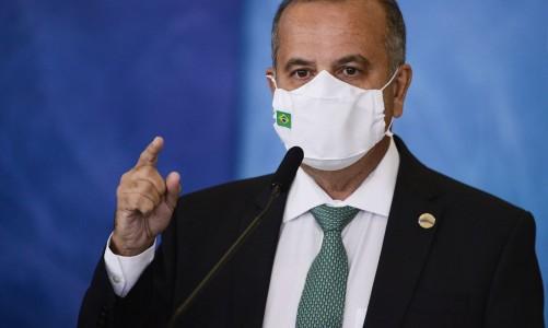 O ministro do Desenvolvimento Regional, Rogério Marinho, durante cerimônia para o anúncio de investimentos para o Programa Águas Brasileiras.
