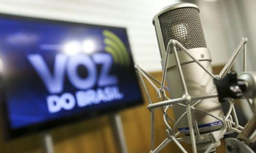 Brasília, DF, Brasil: Estúdio Voz do Brasil. (Foto: Marcelo Camargo/Agência Brasil)