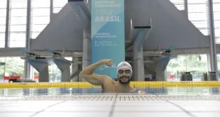 14.07.2021 - Jogos Olímpicos Tóquio 2020 - Natação masculina. O atleta Leonardo de Deus no primeiro treino da natação após chegada em Sagamihara, uma das bases do Time Brasil no Japão.
