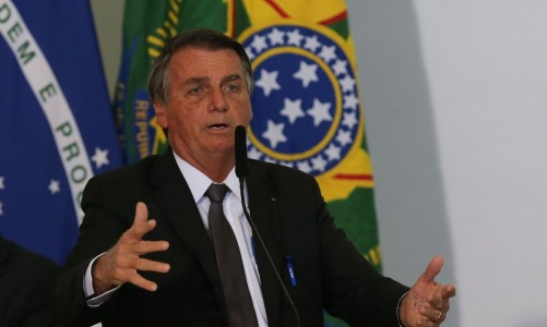 Presidente Jair Bolsonaro, discursa durante solenidade de sanção da lei de capitalização da Eletrobrás