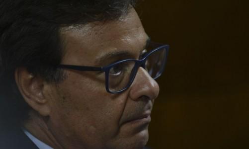Novo presidente da Embratur, Gilson Machado Neto, durante solenidade de posse.