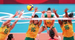 Olimpíada: Brasil engata a terceira vitória seguida no vôlei feminino