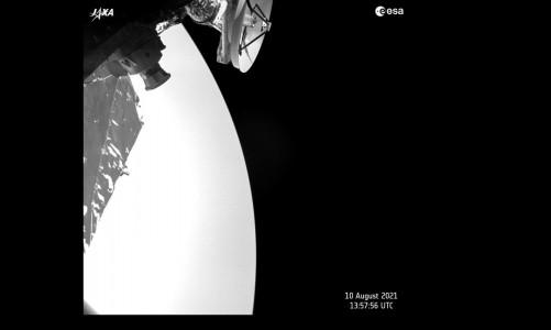 A missão BepiColombo capturou esta imagem de Vênus no dia 10 de agosto de 2021, enquanto a espaçonave passava pelo planeta.